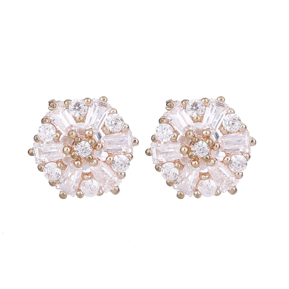 Serendipity Cubic Zirconia Earring Rose Gold