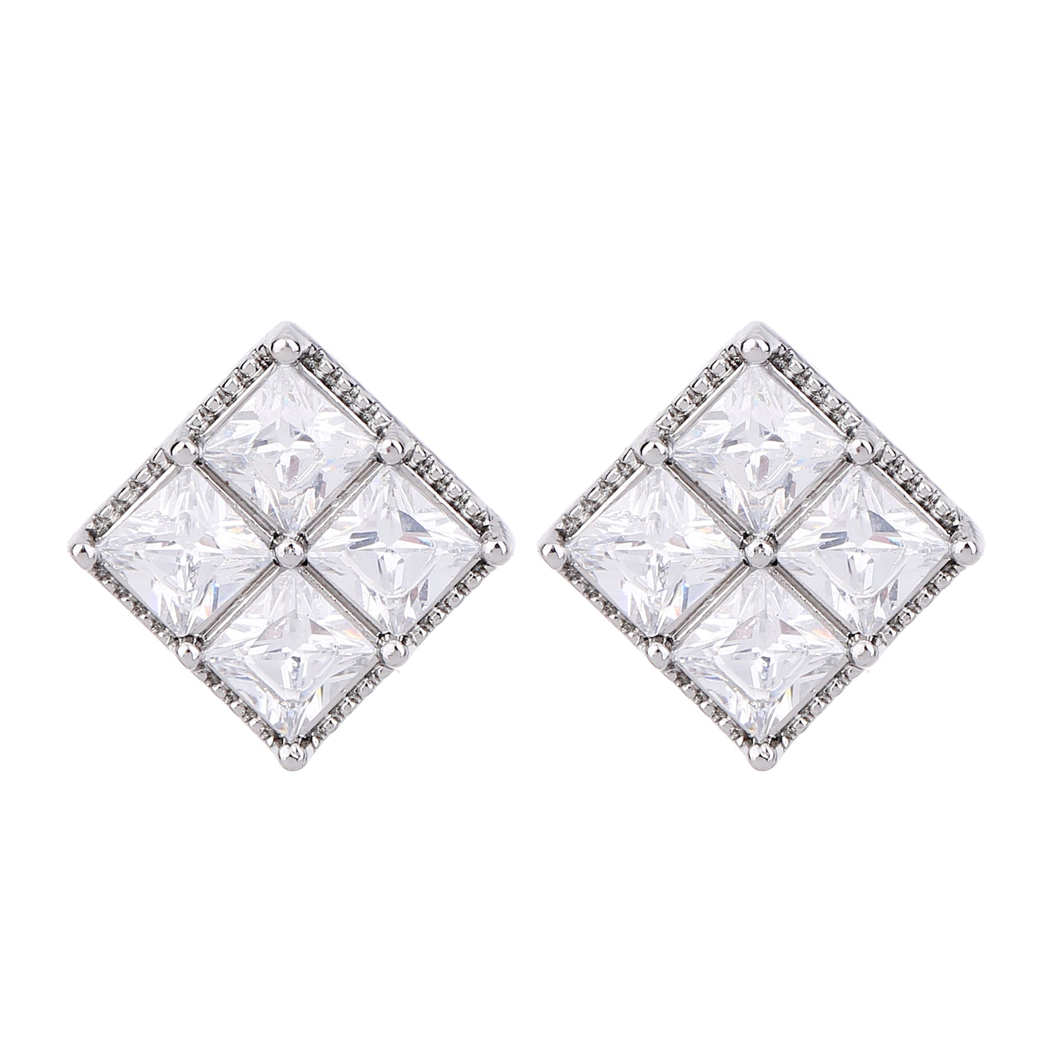 Serendipity Diamond Shaped Earring Silver