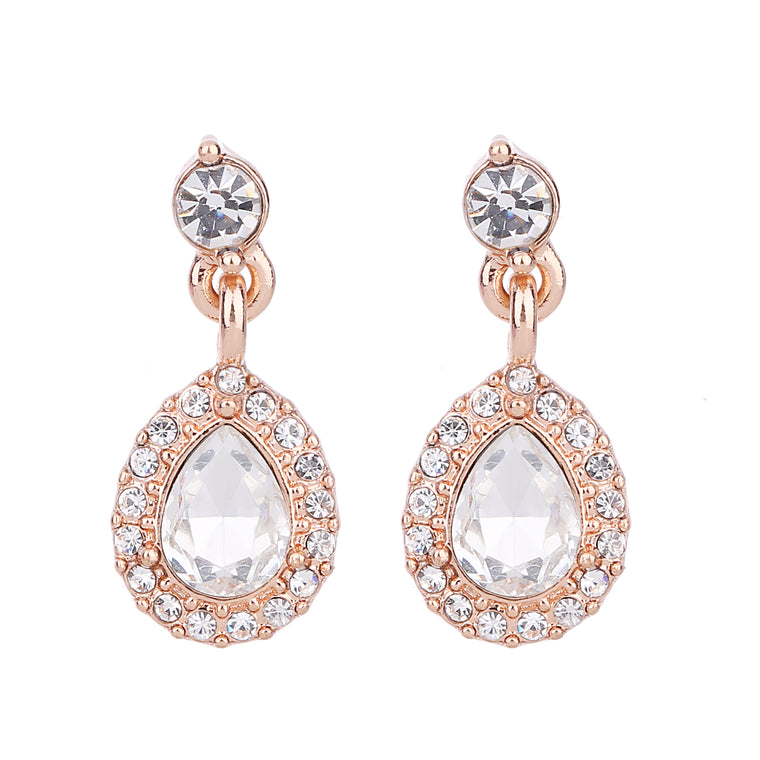 Serendipity CZ Drop Earring Rose Gold