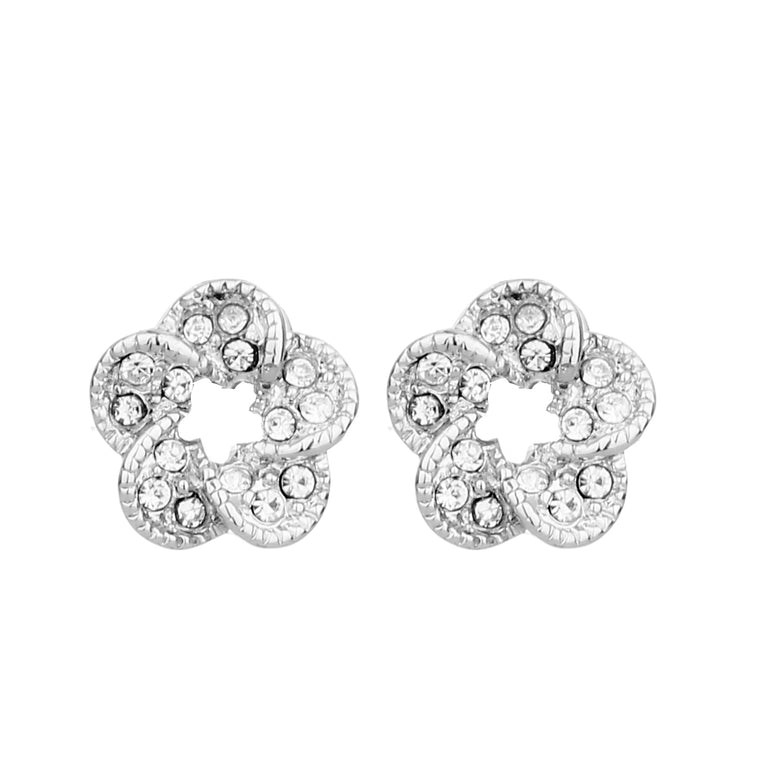 Delicate Ears Crystal Earring Silver Plating