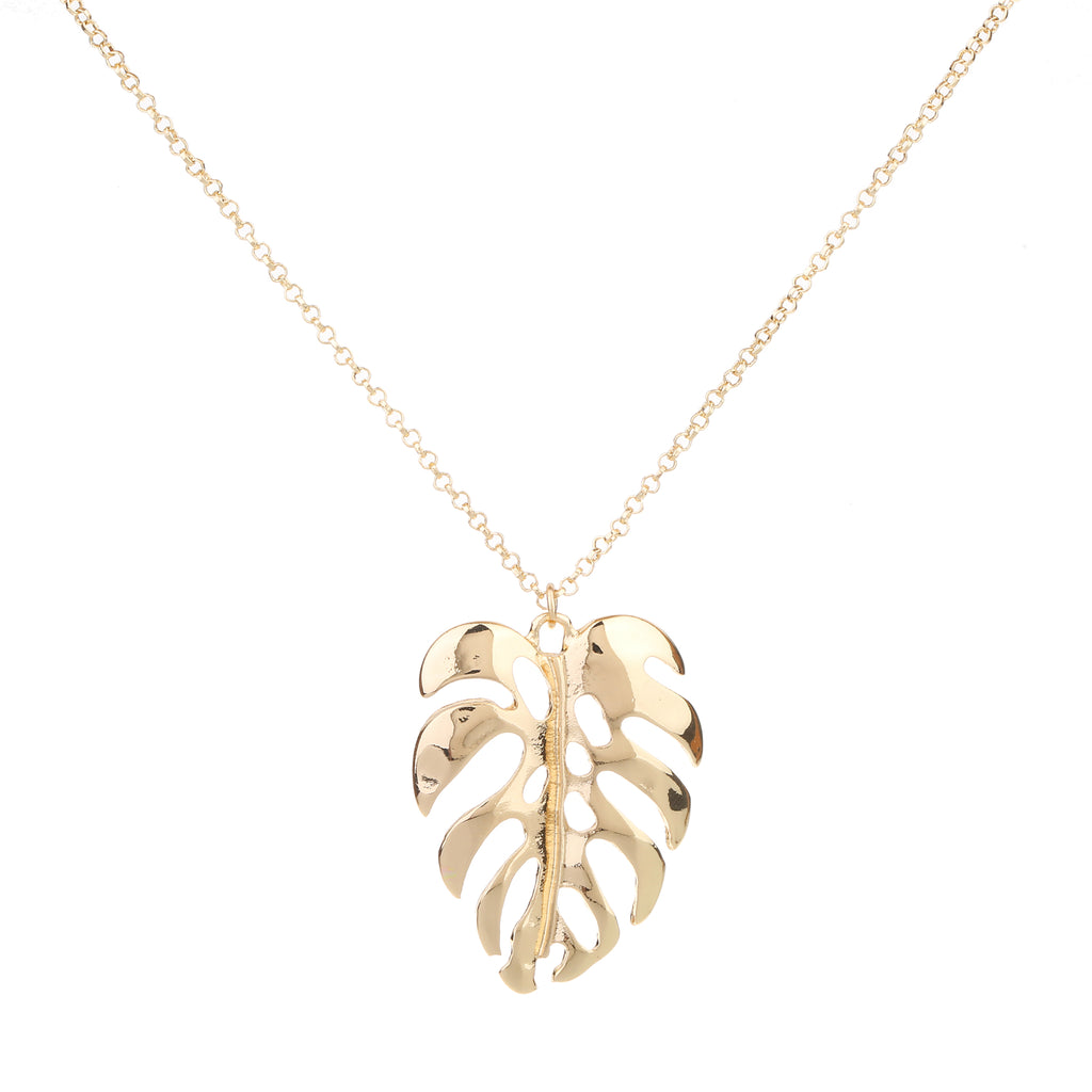 Palm necklace light gold