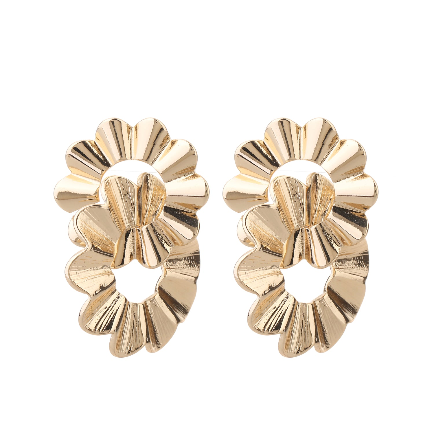 Double earring light gold