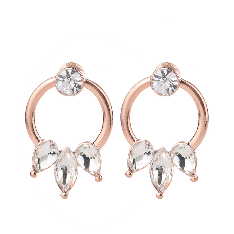 Crystal Detail Earring Rose Gold