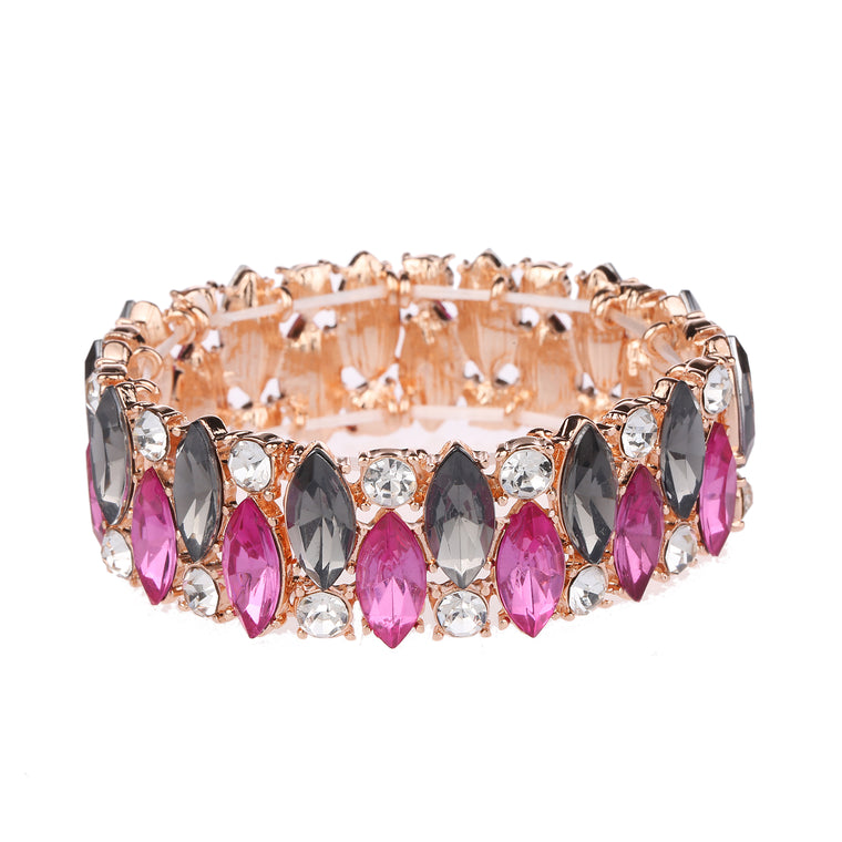 Crystal Bracelet Rose Gold
