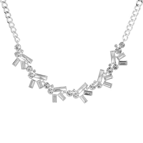 Diamante Necklace Silver