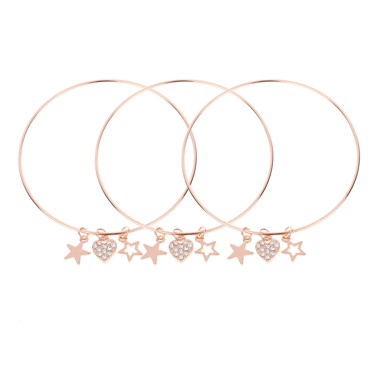 3pk Bangle Rose Gold