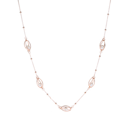 Long Pearl Detail Necklace