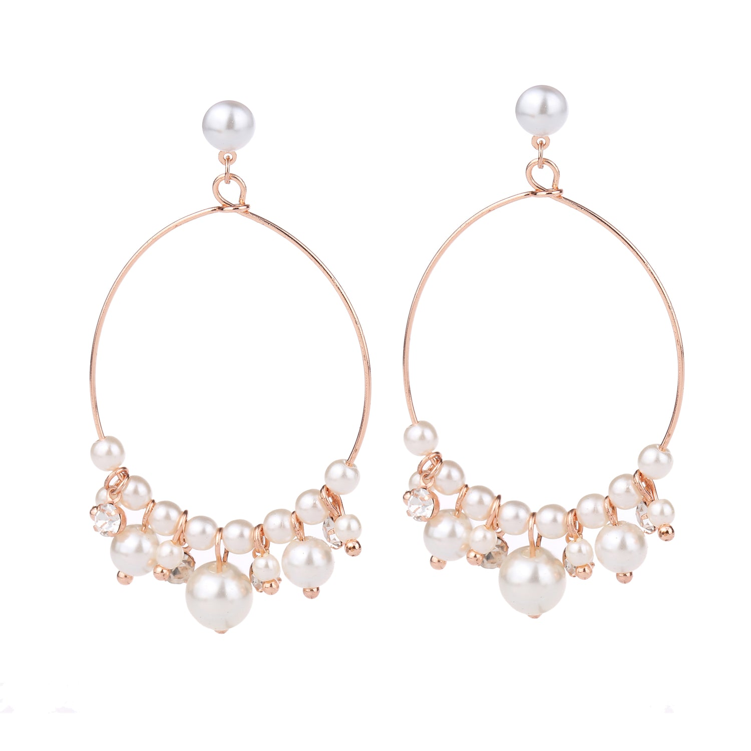 Pearl Detail Earring Rose Gold