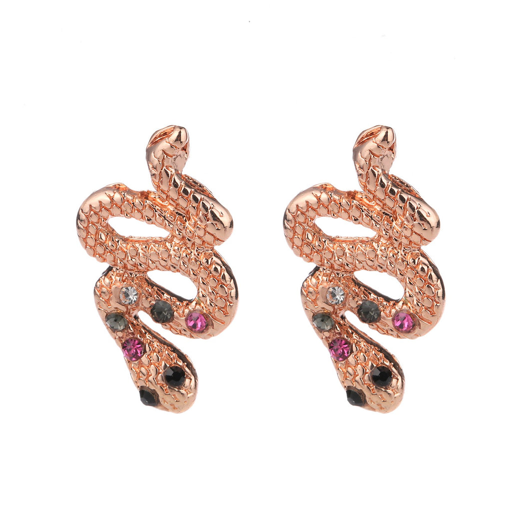 Snake Earring Rose Gold