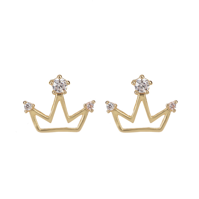 Delicate Ears Crown Earring Light Gold