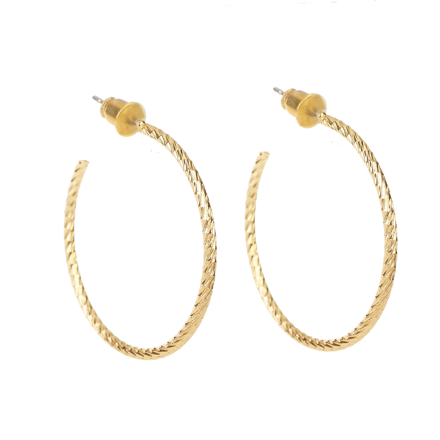 Delicate Ears Hoop Earring Light Gold