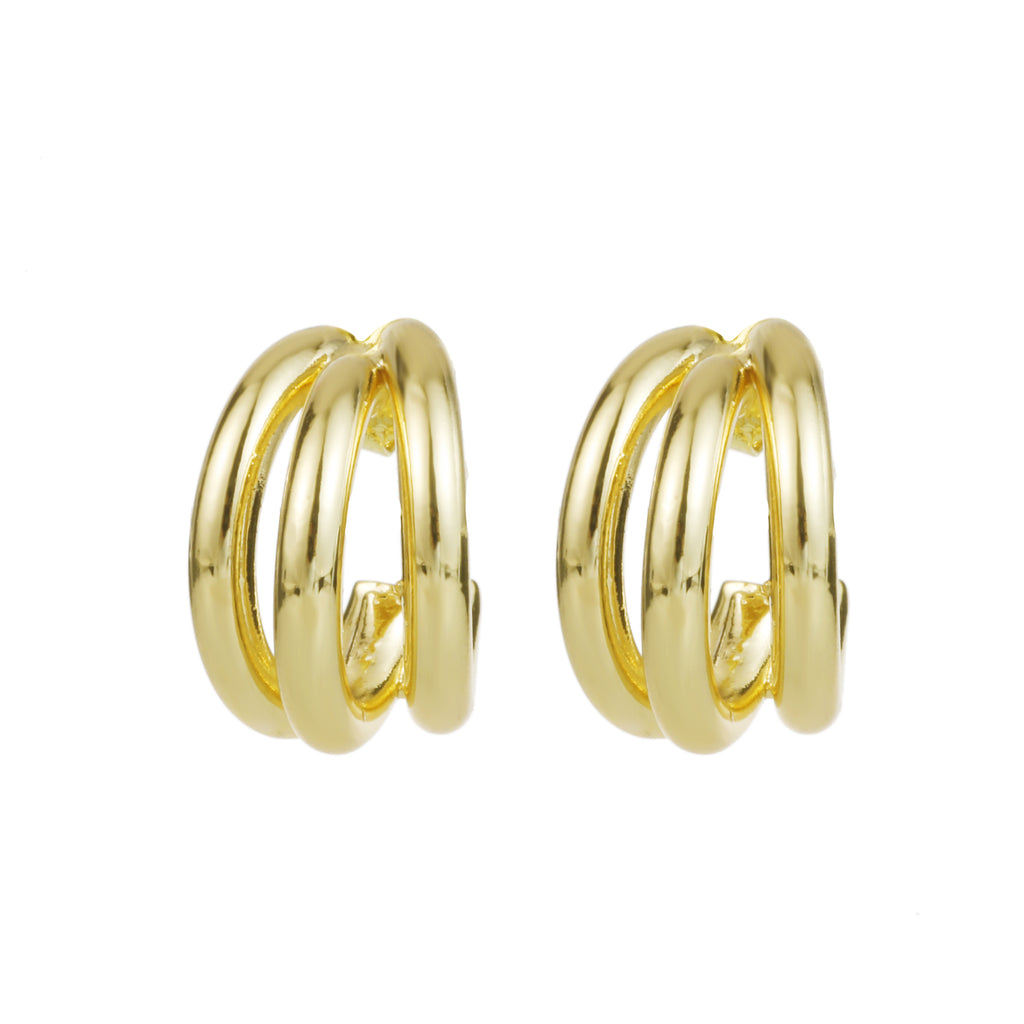 Delicate Ears Triple Hoop Earring