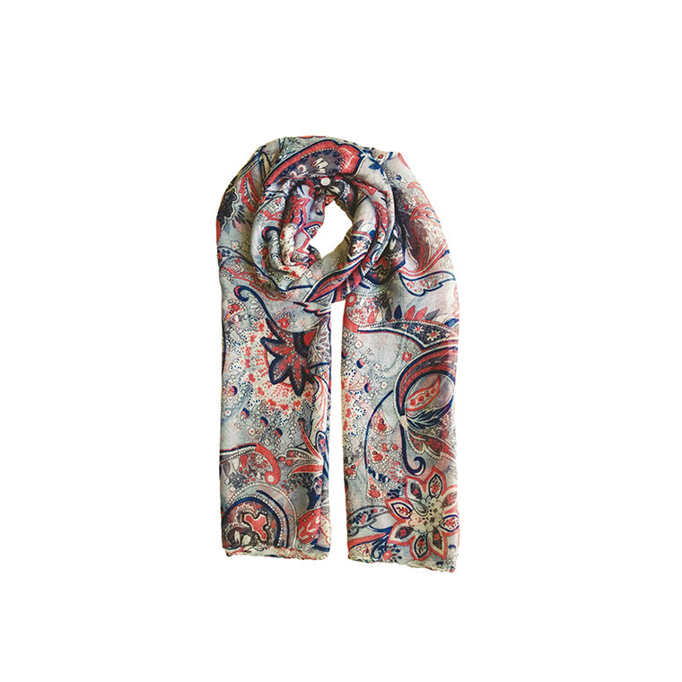 Floral paisley print scarf print 3