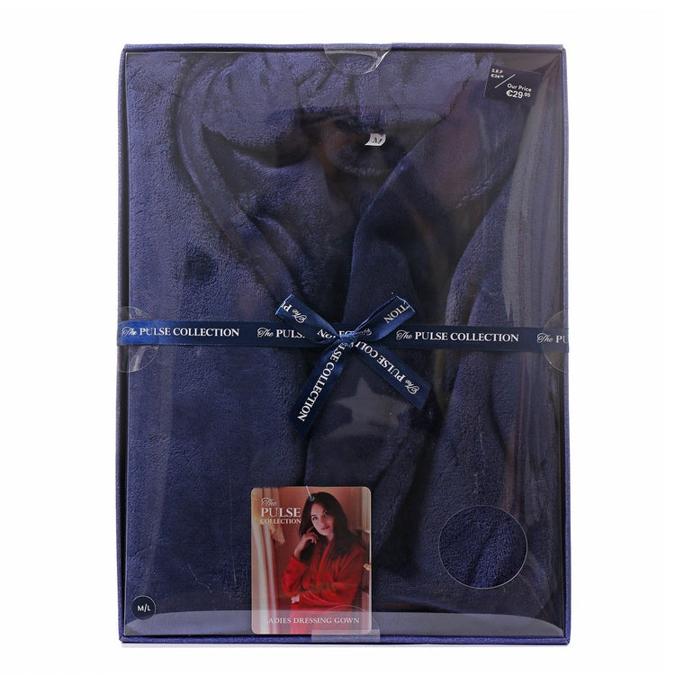 Pulse Gift Box Dressing Gown Navy M/L