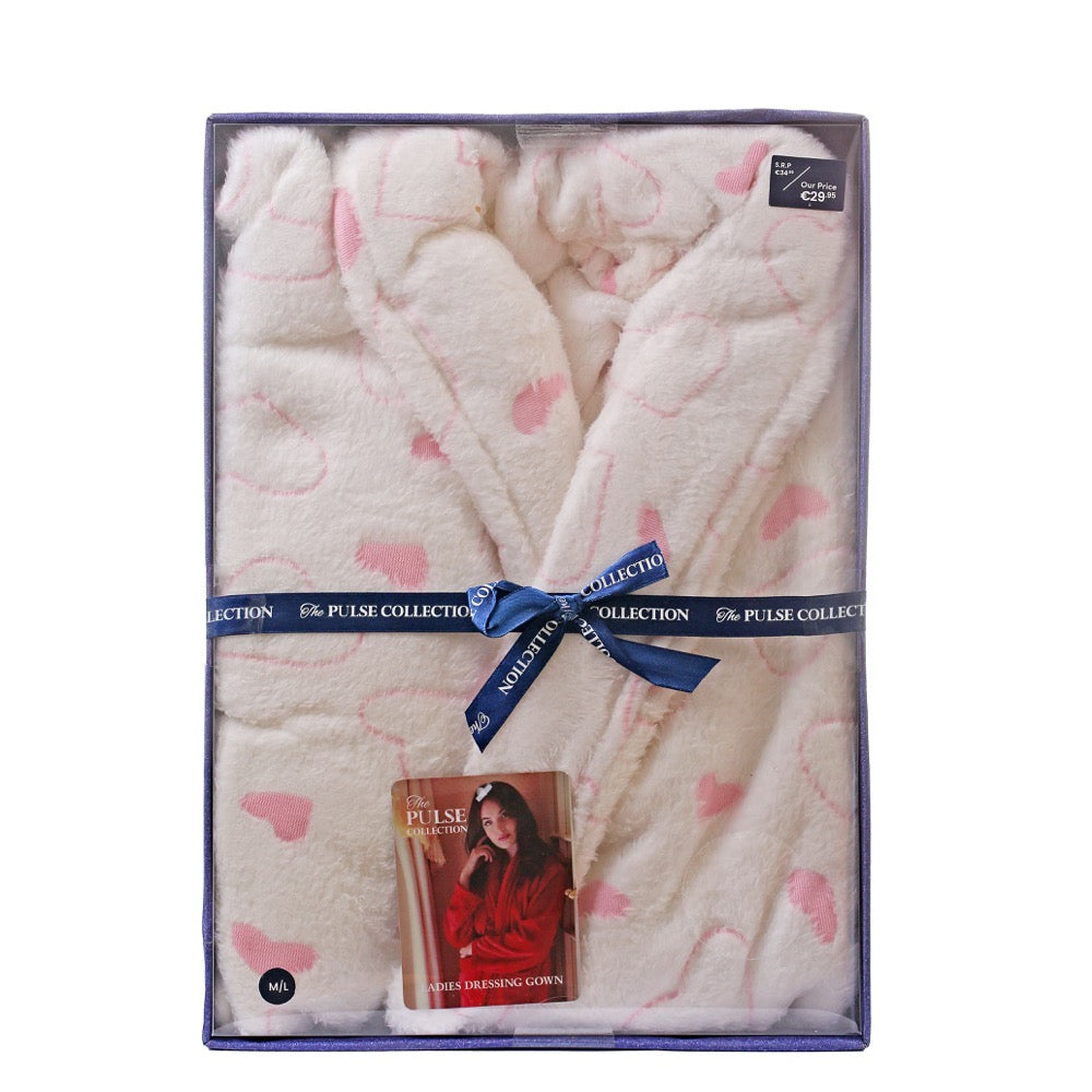 Pulse Gift Box Dressing Gown White M/L