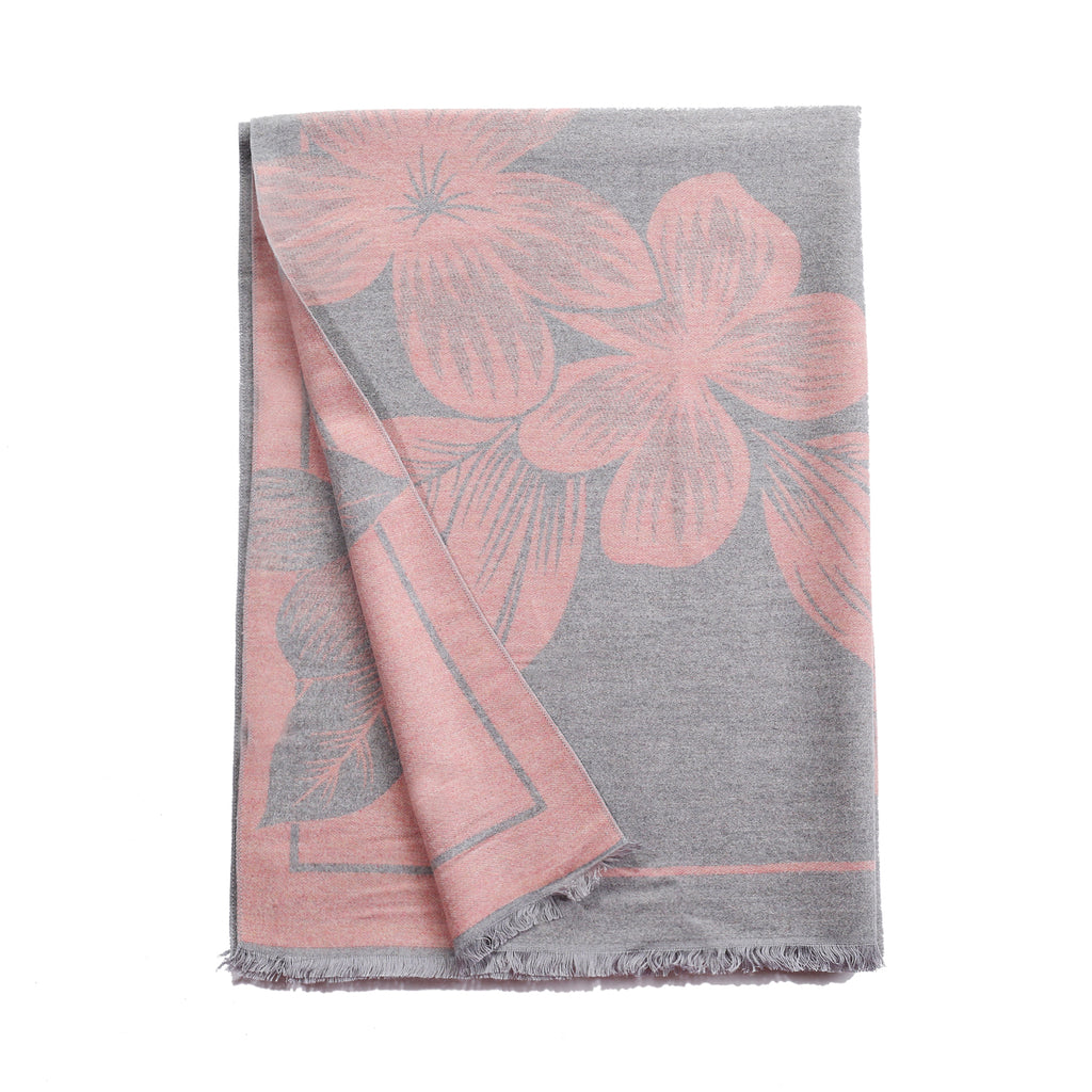 Serendipity Scarf Grey & Pink