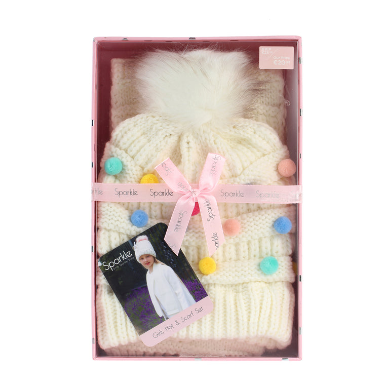 Sparkle Gift Box Hat & Scarf Set