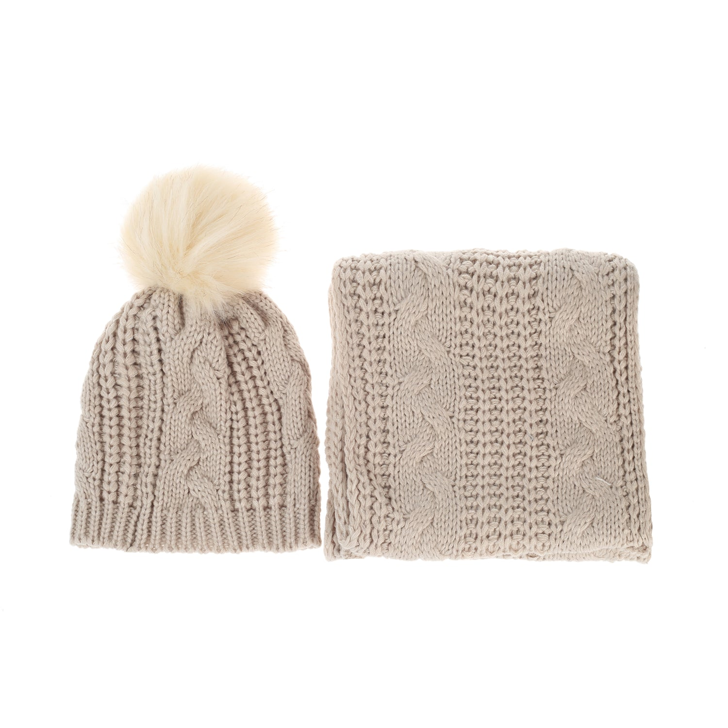 Pulse Gift Box Hat & Scarf Set Beige