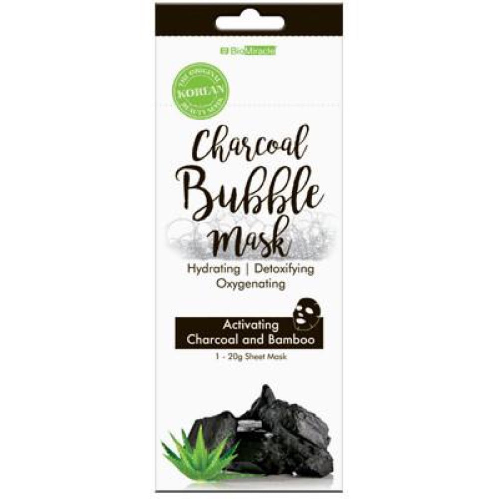 BioMiracle Charcoal Bubble Mask Single Pack