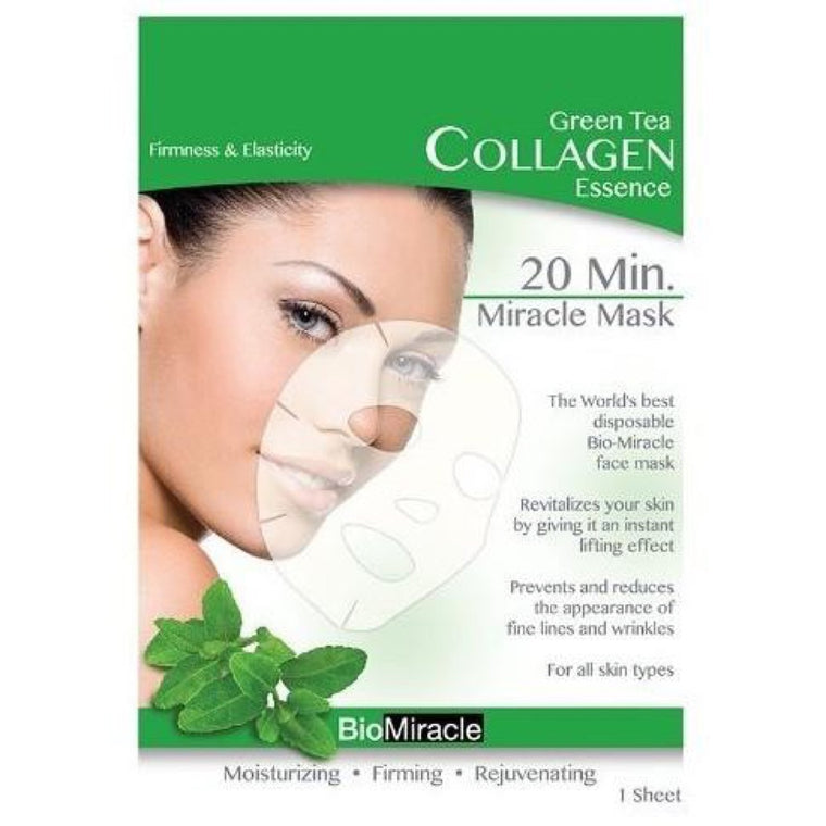 BioMiracle Anti-Aging & Moisturizing Face Mask - Green Tea