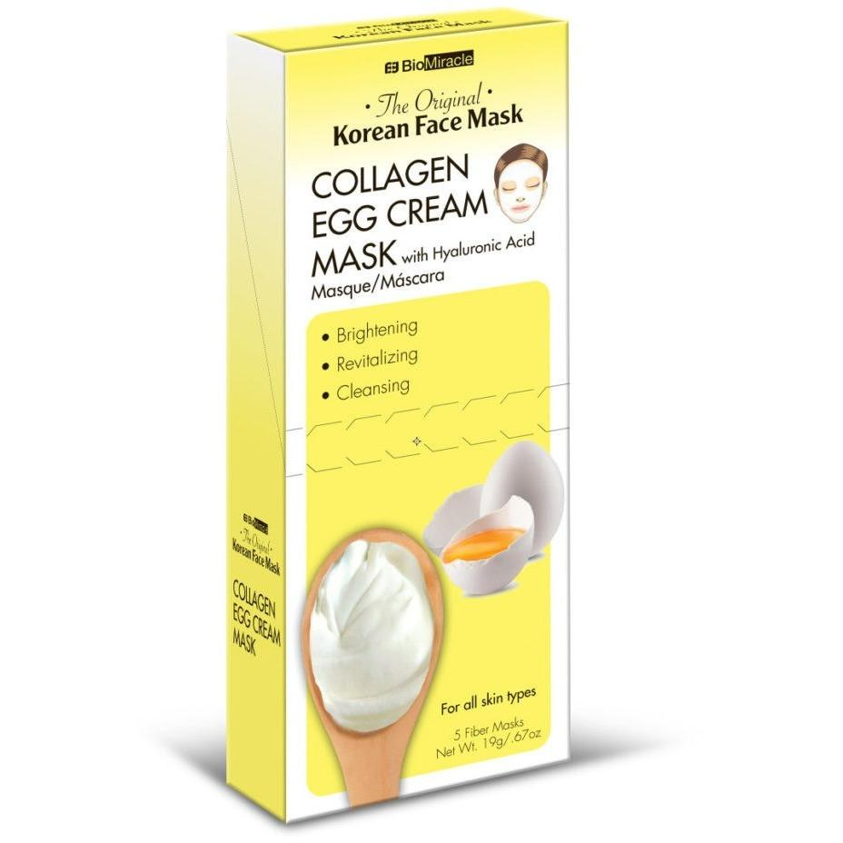 BioMiracle Collagen Egg Cream Mask 5pk