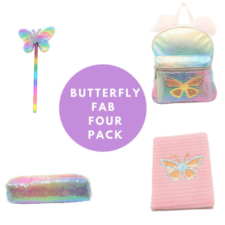 Sparkle Butterfly Fab Four Pack