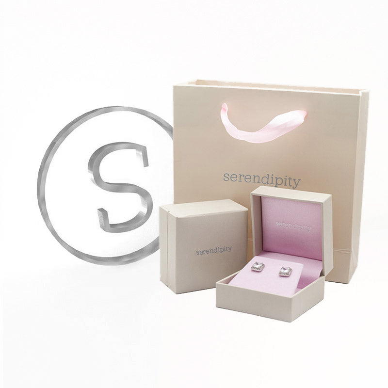 Serendipity Square CZ Earring Rose Gold