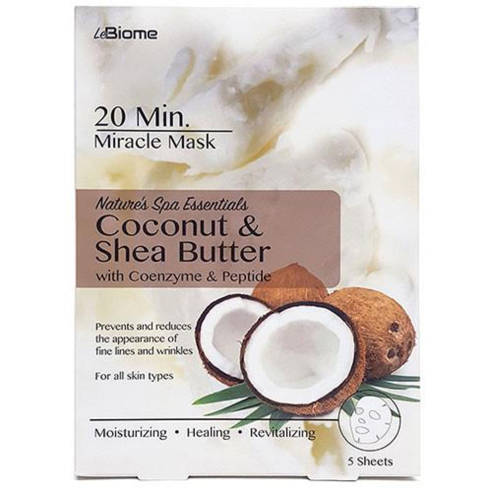 LeBiome Coconut & Shea Face Mask 5Pk