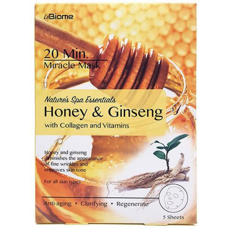 LeBiome Honey & Ginseng Face Mask 5pk