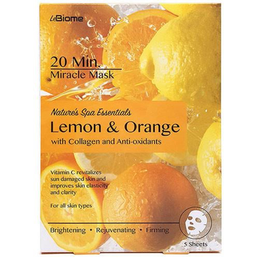 LeBiome Lemon & Orange Face Mask 5pk
