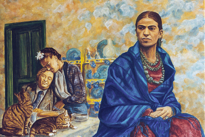 Frida and Diego - Original art print on canvas