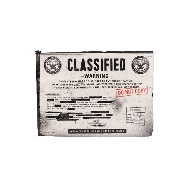 """Classified"" Zipper Pouch"
