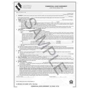Cl Commercial Lease Agreement C A R Business Products