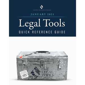 C.A.R. Legal Tools Quick Reference Guide - January 2021