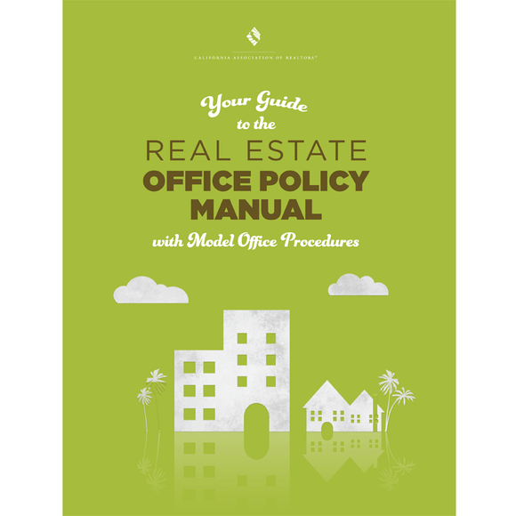 Real Estate Office Policy Manual - Now With Digital Download