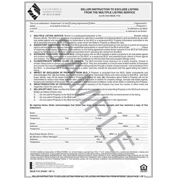C A R Standard Forms Page 2 C A R Business Products