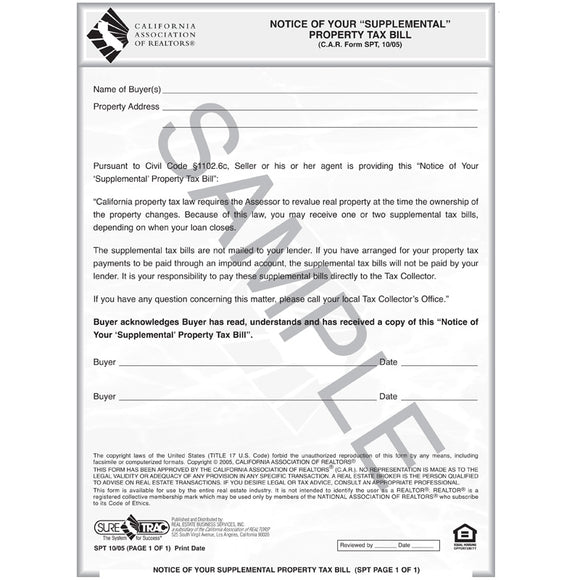 SPT - Notice of Your