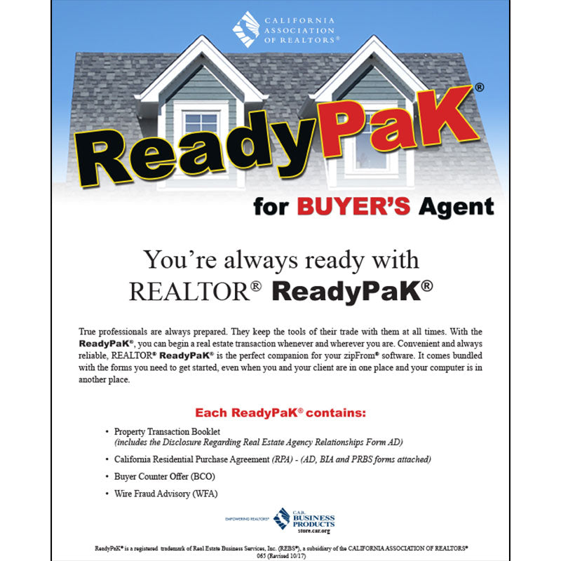 Readypak For Buyers Agent C A R Business Products