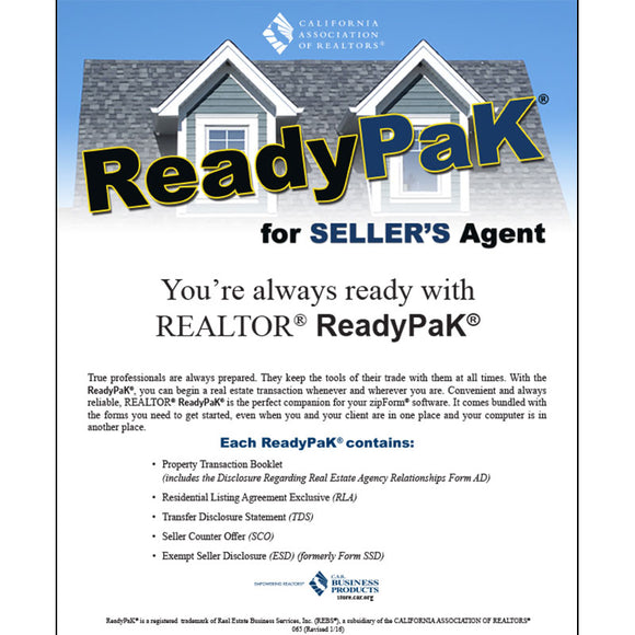 ReadyPak® for Sellers Agent