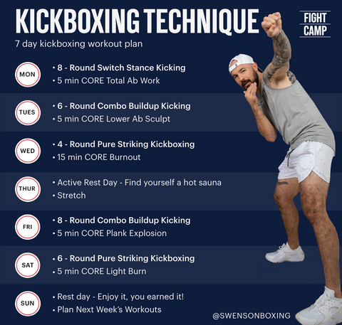 7-Day Kickboxing Technique Workout Program With Aaron Swenson