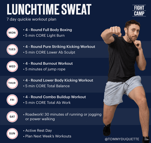 7-Day Quick Lunchtime Sweat Workout Program With Tommy Duquette