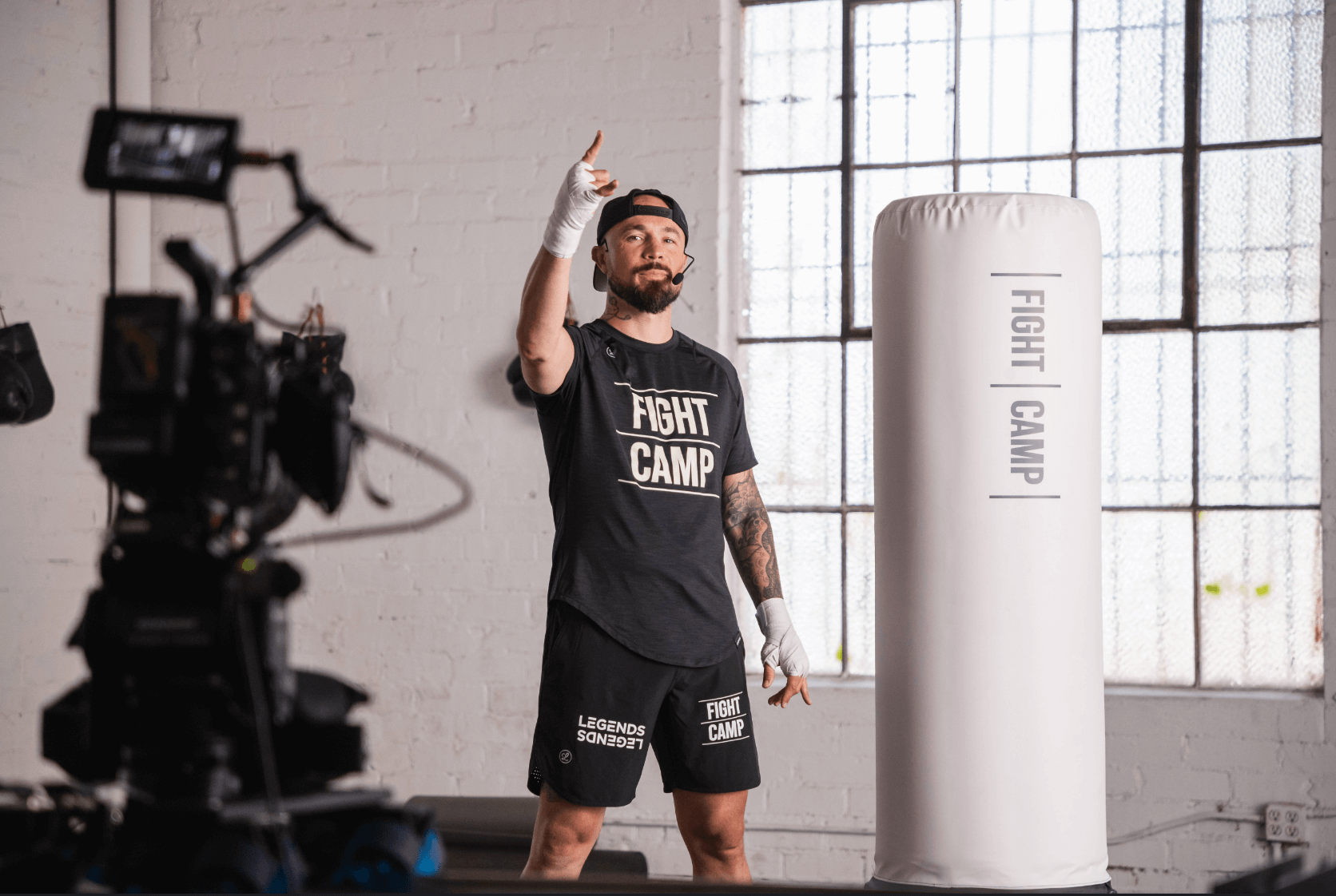 Aaron Swenson Behind The Scenes Teaching Boxing