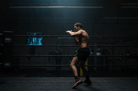 Aaron Swenson Boxing In Boxing Ring