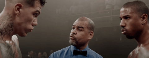 Creed the boxing movie fight scene with Adonis and Leo