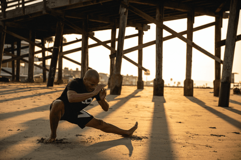 FightCamp Trainer Flo Master on the Beach for an Early Morning Workout