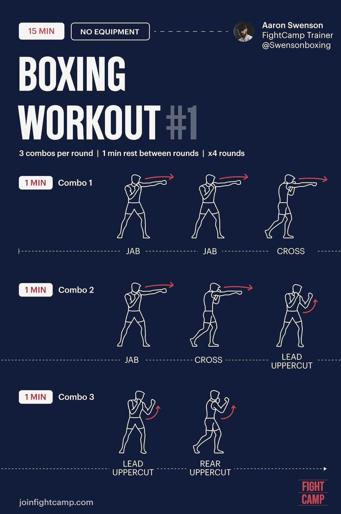 FREE 15 Minute Boxing Workout Infographic