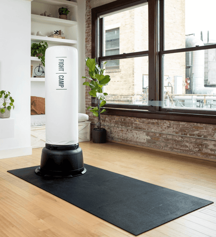 FightCamp At Home Punching Bag Setup with Floor Mat