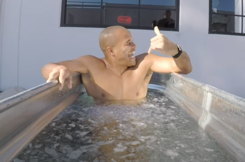 FightCamp Trainer In An Ice Bath For Muscle Recovery