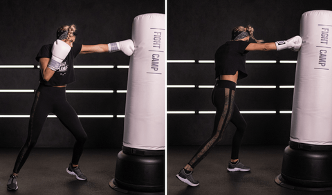 Shanie Smash Doing Jabs and Cross Punches On A Punching Bag