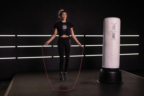 Shanie Smash Warming Up By Jumping Rope